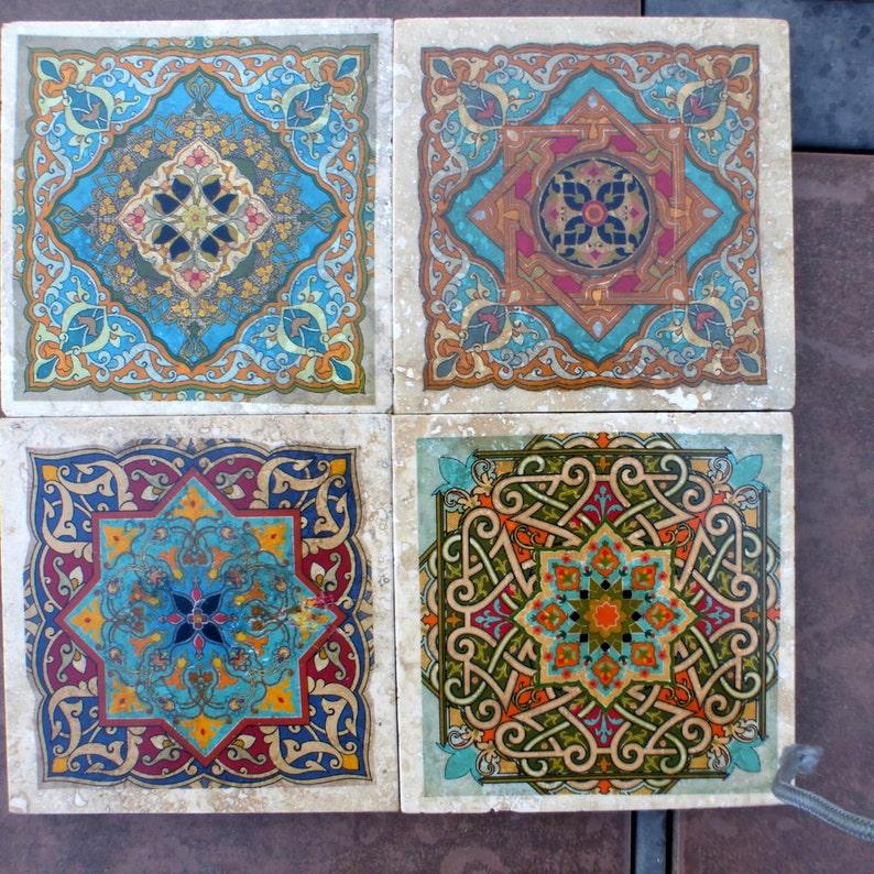 Sous-verres de dessous de verre carrelage marocain | Etsy