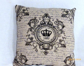 "Custom order for Mayra - Paris pillow covers - Crown Pillow - Two 22""x22"" pillow covers"