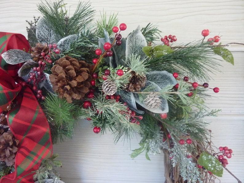 Christmas decorations Holiday Door Decor Christmas Decor Christmas Wreaths Christmas Wreath