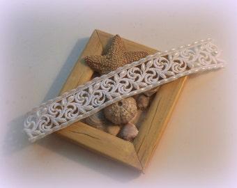 "6 3/4"" White Lace Bridal Bracelet / Wedding Lace Bracelet / Bridal Wrist Cuff"