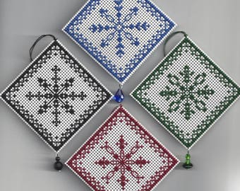 Snowflakes - Counted Cross Stitch Chart - PDF Instant Download