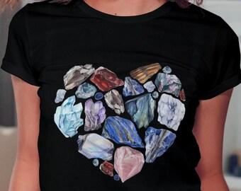Unisex Jersey Short Sleeve Tee, Gems Boho Bohemian Hippie Tee Shirt, Soft Cotton Bella Canvas 3001, Unisex Mens Womens Graphic Tee, XS- 3XL