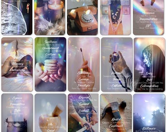 La Lumiere Du Soleil Oracle Deck, (73 Cards Tarot Size Oracle Deck), Handcrafted Custom Relationship Career Love Guidance Oracle Cards
