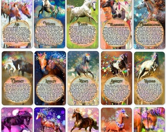 The Call of the Wild Horse Oracle Deck, (54 Cards Tarot Size Oracle Deck), Handcrafted Relationship Career Love Guidance Oracle Cards