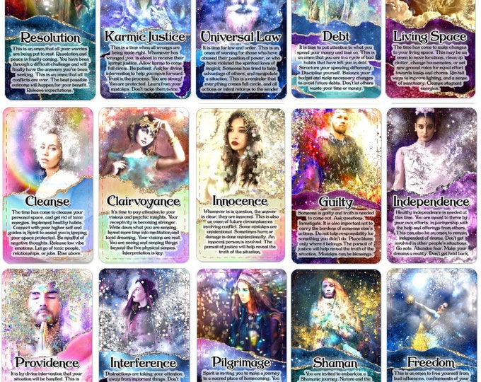 The Samsara Oracle Deck, (93 Cards Tarot Size Oracle Deck), Handcrafted Custom Relationship Career Love Spiritual Guidance Oracle Cards