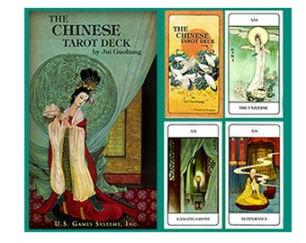 Chinese Tarot Deck by Jui Guoliang Oracle Cards, Divination Tools and Accessories, Tarot Cards, Wicca Spiritual Pagan Tools
