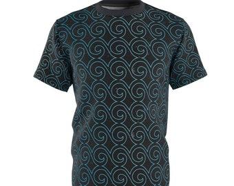 Unisex Mens Tee Shirt, Boho Bohemian Print Shirt, Moisture Wicking T Shirt, S-3XL Sublimated Tee, Custom Print Shirt, Gym Beach Clothing