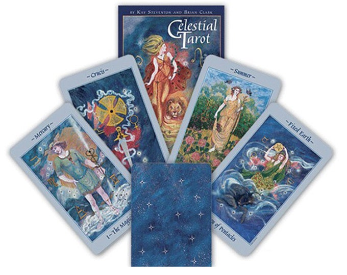 Celestial Tarot Deck by Steventon & Clark Oracle Cards, Divination Tools and Accessories, Tarot Cards, Wicca Spiritual Pagan Tools