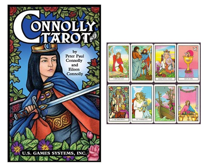 Connolly Tarot Deck by Peter Paul & Eileen Connolly Oracle Cards, Divination Tools and Accessories, Tarot Cards, Wicca Spiritual Pagan Tools