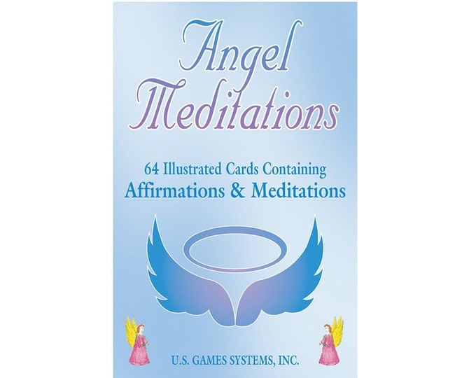 Angel Meditation Cards by Cafe Innecco, Tarot Oracle Cards, Divination Tools and Accessories, Tarot Cards, Wicca Spiritual Pagan Tools