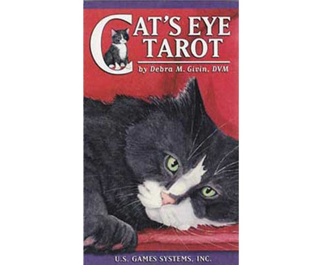 Cat's Eye Tarot Deck by Debra Givin Tarot Oracle Cards, Divination Tools and Accessories, Tarot Cards, Wicca Spiritual Pagan Tools