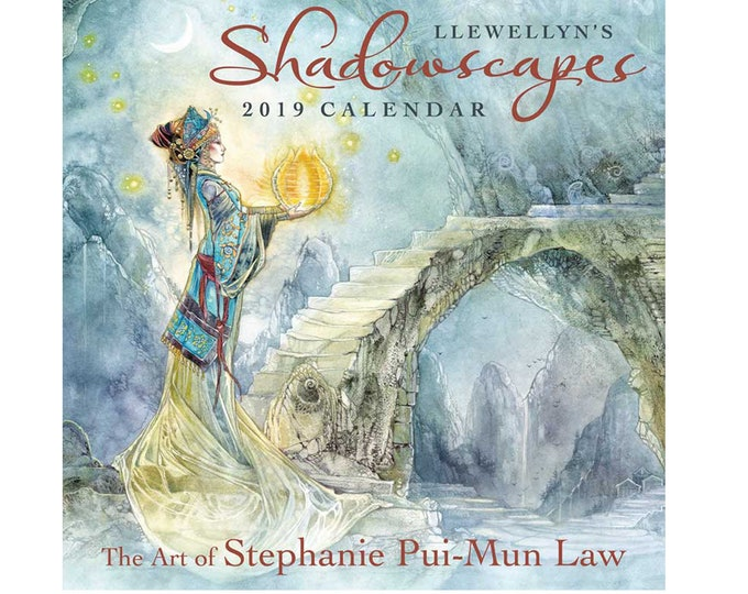 2019 Shadowscapes Calendar by Llewellyn, Illustrated Calendar, Wall Decor, Home Decor, Spiritual Wiccan Pagan Monthly Calendar
