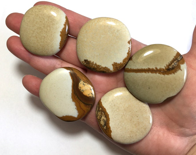 Large Picture Jasper Worry Stone,Japser Gallet, Gemstone Worry Stone, Flat Oval Gem Palm Stone, Large Polished Palm Stone Gemstone Crystal