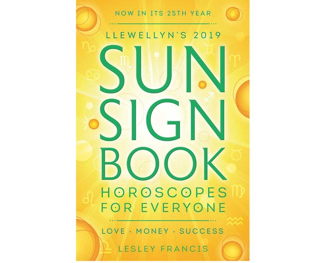 2019 Sun Sign Datebook by Llewellyn, Sun Astrology Horoscope Diary Daily Yearly Schedule Planner, Office Tools, Desk Book Planner Date Book
