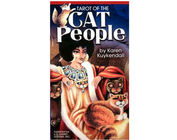 Cat People Tarot Deck by Karen Kuykendall Oracle Cards, Divination Tools and Accessories, Tarot Cards, Wicca Spiritual Pagan Tools