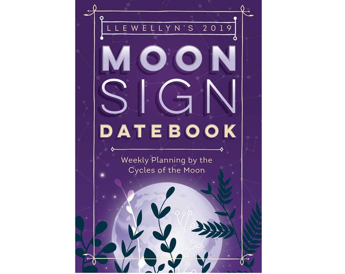 2019 Moon Sign Datebook by Llewellyn, Moon Diary Daily Yearly Schedule Planner, Office Tools, Desk Book Planner Date Book