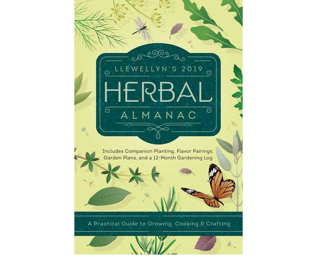 2019 Herbal Almanac by Llewellyn, Herbs Plants Nature How To Project Tips Techniques Ideas, Office Tools, Desk Book Almanac