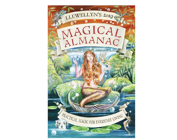 2019 Magical Almanac by Llewellyn. How To Project Tips Techniques Ideas for Practical Magic, Office Tools, Desk Book Almanac