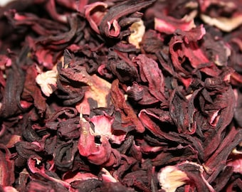 1lb Hibiscus Flower Dried Cut, Hibiscus Dried 1 Pound Cut, Bulk Wholesale Hibiscus Flower, Hibiscus Flower Whole 16oz (Hibiscus sabdariffa)