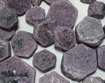 Bulk 1lb Raw Ruby Hexagonal Gemstones, Bulk Wholesale Rough Hexagonal Ruby Rocks Stones, Rough Red Gemstones, Bulk Crystals, Bulk Gemstones