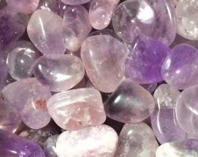 Bulk 1lb Tumbled Large Amethyst Gemstones, B Grade Bulk Purple Amethyst Polished Stones, Amethyst Gemstones, Healing Crystals, Purple Gems