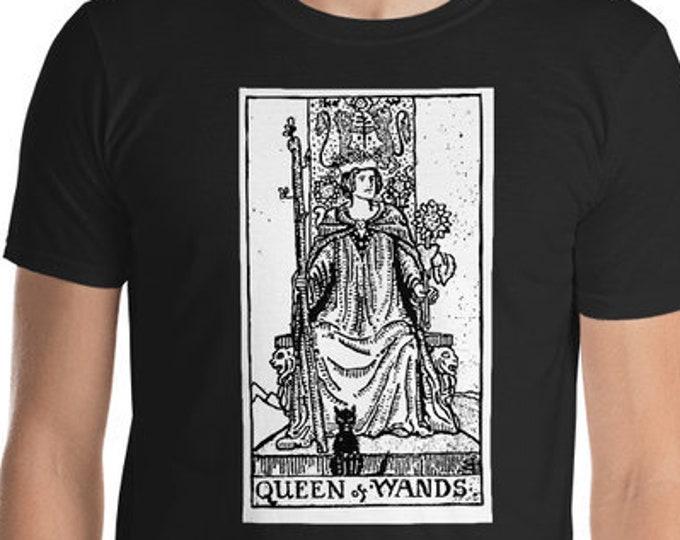 Unisex Mens T Shirt, Licensed Tarot Card Occult Shirt, Queen of Wands Tarot Clothing Apparel, XS-4XL,  Softstyle Cotton DTG Print Custom Tee