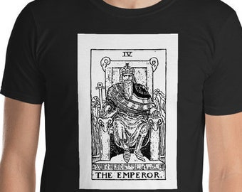 Unisex Mens T Shirt, Licensed Tarot Card Occult Shirt, The Emperor Tarot Clothing Apparel, XS-4XL,  Softstyle Cotton DTG Custom Tee
