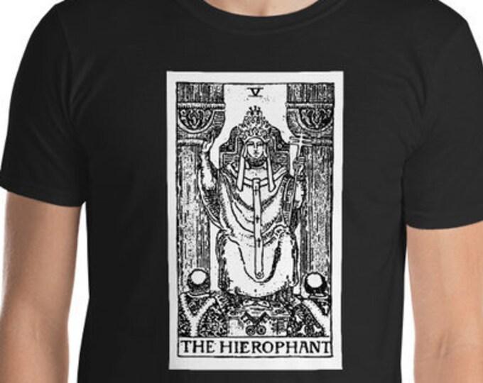 Unisex Mens T Shirt, Licensed Tarot Card Occult Shirt, The Hierophant Tarot Clothing Apparel, XS-4XL,  Softstyle Cotton DTG Print Custom Tee