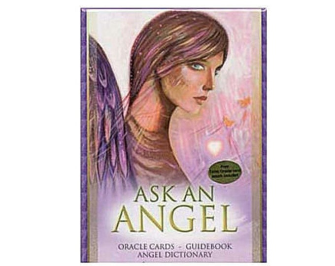 Ask an Angel Oracle Deck by Salerno & Mellado Tarot Oracle Cards, Divination Tools and Accessories, Tarot Cards, Wicca Spiritual Pagan Tools