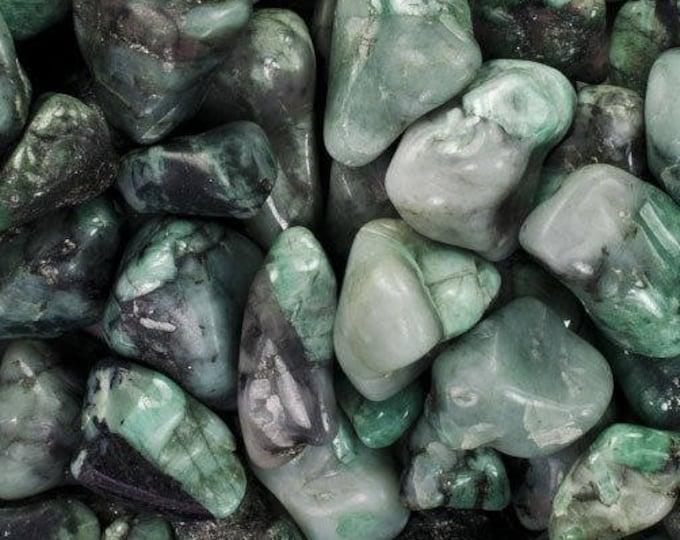 Bulk 1lb Tumbled Green Emerald Gemstones, Bulk Wholesale Tumbled Stones, Tumbled Emerald Gemstones, 1 Pound Gemstone Lot Wholesale