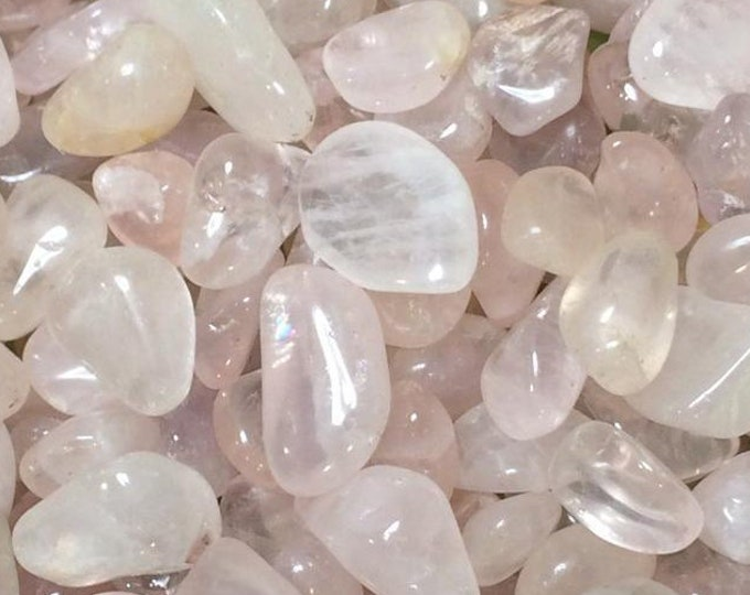 Bulk 1lb Tumbled Mixed Sizes Rose Quartz Crystal Gemstones, Bulk Wholesale Pink Quartz Tumbled Stones, Tumbled Gemstones Crystals Rocks Gems