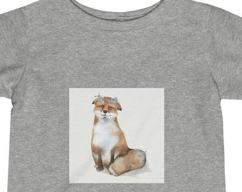 Infant Tee, Cotton Fine Jersey Baby Tee, 6M - 24M Tee Shirt, Children's Clothing, Baby Animals Print Tee, Kids Infant Apparel Clothing