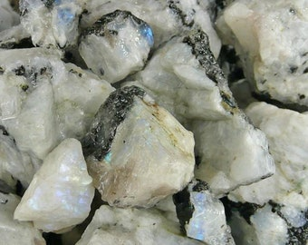 Bulk 1lb Rough White Rainbow Moonstone Gemstones, Bulk Wholesale Rough Moonstone Rocks Stones, Raw Gemstones, Bulk Crystals, Bulk Gemstones