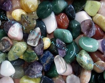 Bulk 1lb Tumbled Mixed Variety Gemstones, Bulk Wholesale Mixed Gemstone Tumbled Stones, Tumbled Gemstones, Bulk Crystals, Bulk Gemstones