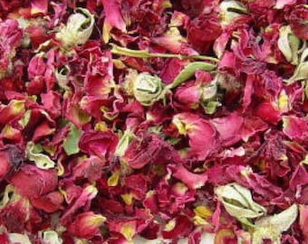 1lb Bulk Dried Red Rose Petals, Red Roses Dried Bulk 1lb Cut, Bulk Wholesale Red Roses, 1 Pound Bulk Dried Roses Cut, Rose Potpouri Crafts