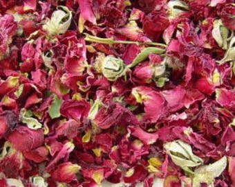 1lb Bulk Dried Red Rose Petals Buds, Red Roses Dried Bulk 1lb, Bulk Wholesale Red Roses, 1 Pound Bulk Dried Roses Cut, Rose Potpouri Crafts