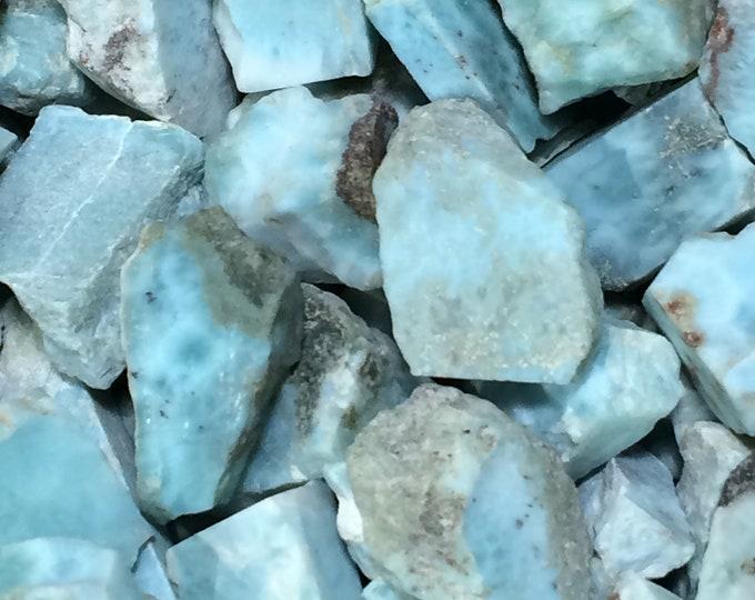 Bulk 50g / 250ctw Rough Dominican Larimar Gemstones, 18-25mm Rough Blue Larimar, Larimar Slabs, Dominican Larimar Crystals, Jewelry Making