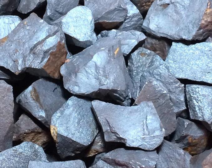 Bulk 1lb Rough Hematite Gemstones, Bulk Wholesale Silver Stones, Raw Rough Hematite Crystals, 1-2 Inch Hematite Gems, Healing Metaphysical