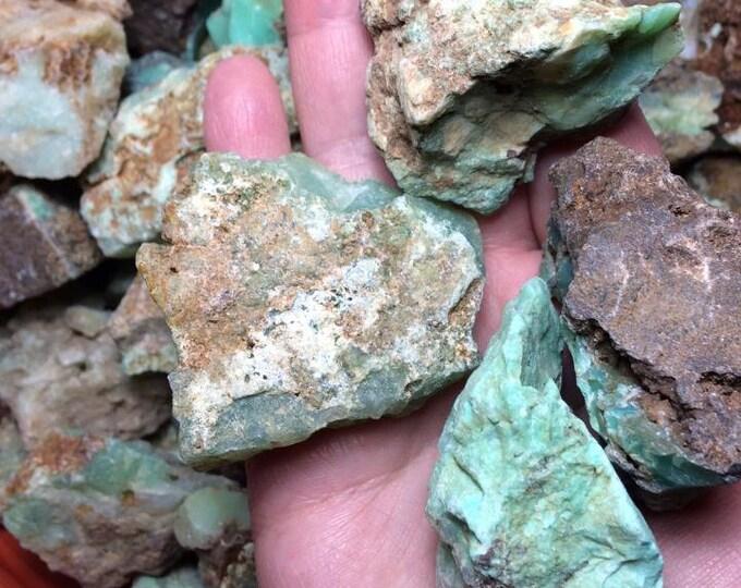 Bulk 1lb Rough Chrysoprase Gemstones, 1-2 Inch Wholesale Rough Crystals Stones, Green Chrysoprase Rough Gemstones, Bulk Crystals