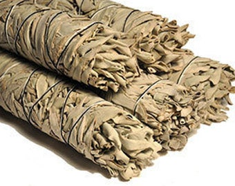 12pk Bulk White Sage Bundle, California White Sage Smudge Supplies, Sm Sage Bundle, Sage Smudge Bundle, Smudge Kit Took Supplies, Sage Wand