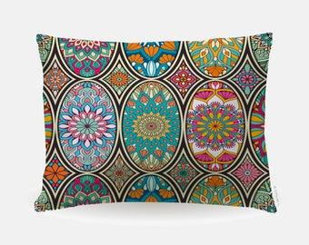 Boho Mandala Pillowcase, Standard Pillowcase 30x20in, Bohemian Standard Bedding Bed Pillow Case, Home Furnishings, Tribal Polyester Case