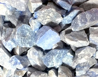 Bulk 1lb Raw Blue Quartz Gemstones, Bulk Wholesale Blue Quartz Rough Crystals Stones, Blue Rough Gems, Bulk Crystals, Bulk Gemstones
