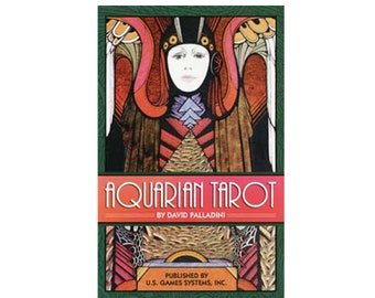 Aquarian Tarot Deck by David Palladini, Tarot Oracle Cards, Divination Tools and Accessories, Tarot Cards, Wicca Spiritual Pagan Tools