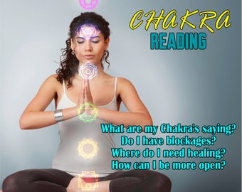CHAKRA Reading, What Do Your Chakra's Reveal? Professional, Detailed, 20+ Years Experience, Psychic Intuitive Reading, Psychic Reading