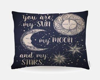 Celtic Sun Moon Pillowcase, Standard Pillowcase 30x20in, Celestial Stars Standard Bedding Pillow Case, Home Furnishings, Pillow Polyester