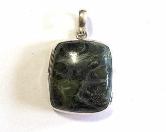 Womens Pendant,Orbital Kambaba Jasper Gemstone Pendant, Sterling Silver Pendant, Boho Necklace, Bohemian Gemstone Jewelry, Boho Jewelry