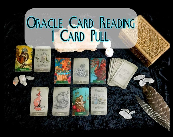 1 CARD ORACLE Psychic Reading, Professional Detailed, 20+ Yrs Experience, Love Family Finance Career, Oracle Card Reading, Intuitive Reading