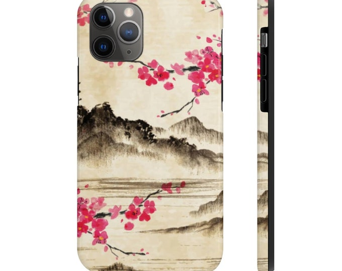 Case Mate Tough Phone Case, iPhone Samsung Phone Cover, Japanese Cherry Blossom Floral Phone Case, iPhone 11/11 Pro, Samsung Galaxy