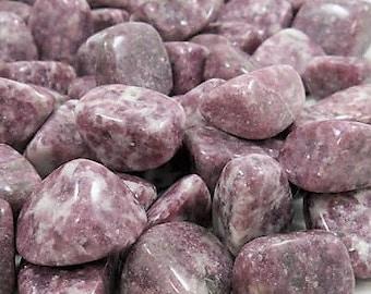 Bulk 1lb Tumbled Purple Lepidolite Gemstones, Bulk Wholesale Tumbled Stones, Tumbled Lepidolite Gemstones, Bulk Crystals, Bulk Gemstones