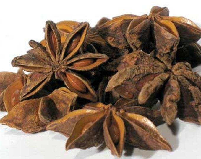 1lb Bulk Anise Star Pods, Dried Wholesale Anise Stars, 1 Lb Anise Star whole (Ilicium verum), Wholesale Bulk 16 Ounces Anise Whole